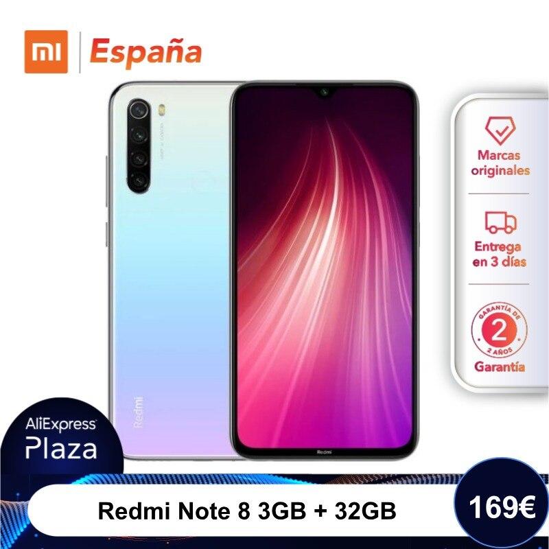 Xiaomi Redmi Note 8 (32GB ROM, 3GB RAM, Snapdragon™ 665, Android, Nuevo, Móvil) [Teléfono Móvil Versión Global Para España] Note