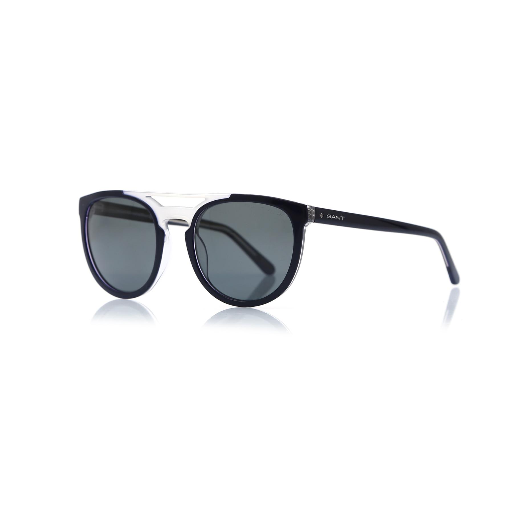Men's sunglasses gnt 7104 90d bone navy blue organic oval aval 55-22-145 gant