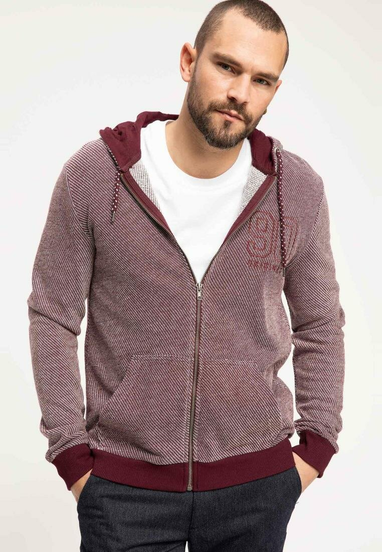 DeFacto Fashion Man Cardigan Hooded Coats Autumn Male Casual High Quality Jackets Men's Cotton Coats New-J3767AZ18WN