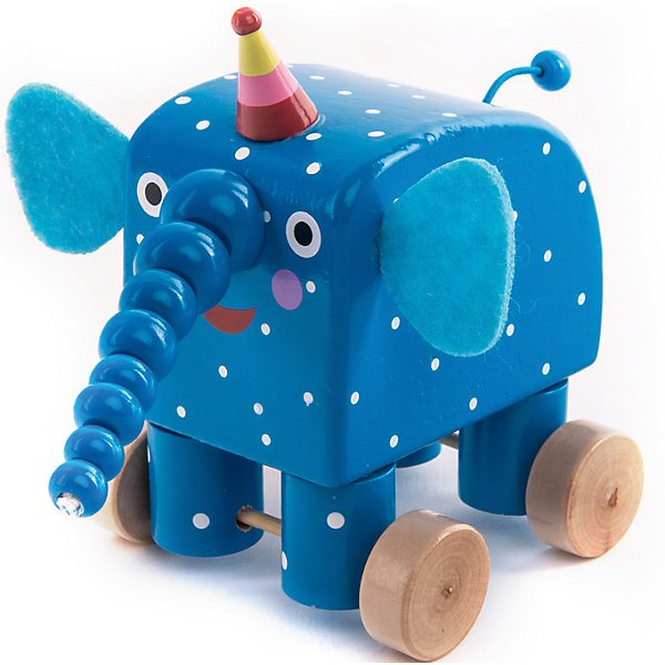 Figurine Wooden Elephant Wood Doo Doo