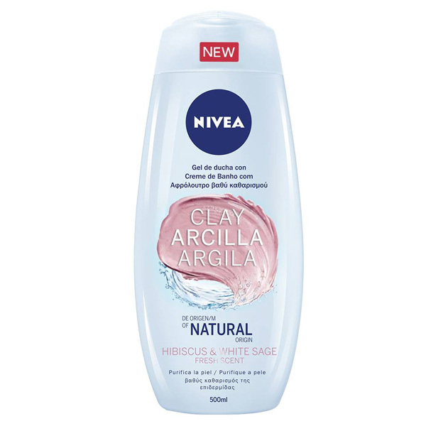 Shower Gel Arcilla Hibiscus & White Sage Nivea (500 Ml)