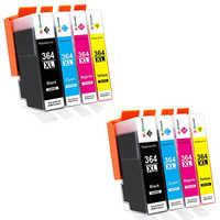 8 cartriges HP364xl HP 364xl 364xl's refill Compatible for printer Model PhotoSmart C 5370