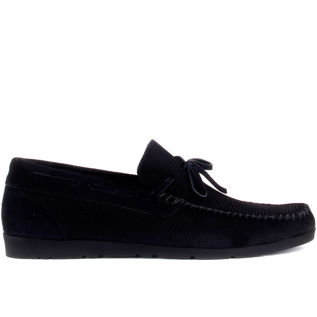 Sail Lakers-Navy Blue Suede Men Casual Shoes
