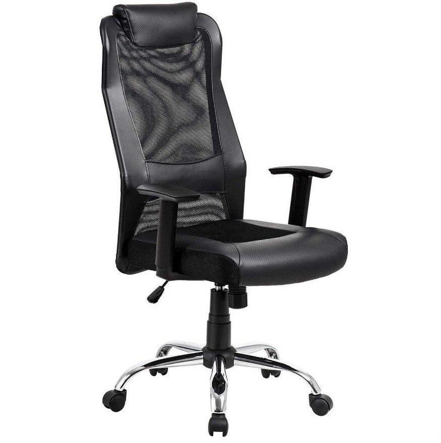 Office Armchair SINALOA, High, Gas, Rocker, Mesh And Black Seat