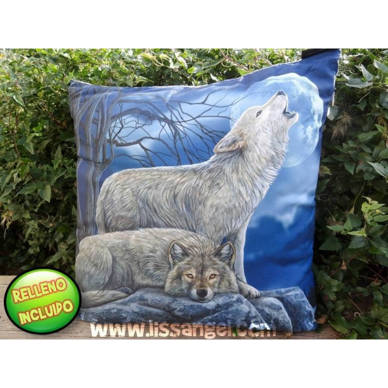 Cushion 40x40 Wolves At Night (Filling Included)