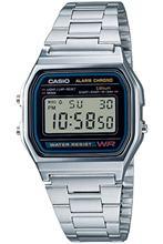 Casio A158WA-1DF cyfrowy zegarek męski tanie tanio JP (pochodzenie) bez wodoodporności Moda casual Cyfrowe zegarki na rękę