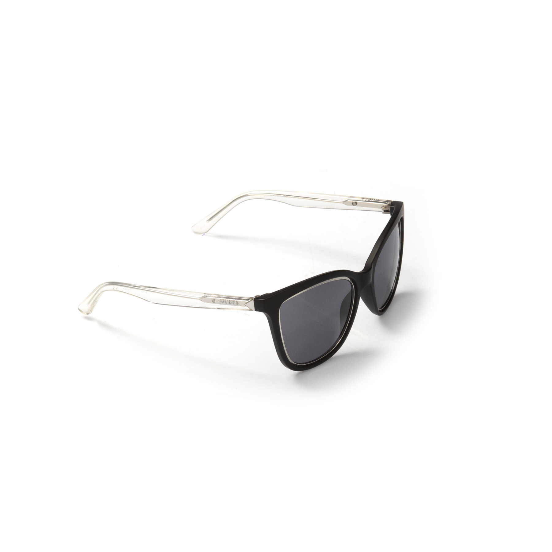 Women's sunglasses gu 7467 02a bone black organic rectangle rectangular 54-20-140 guess