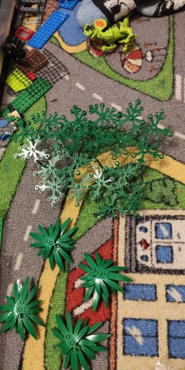 Tree Plant Accessories Parts Building Blocks Compatible Grass Bush Leaf Jungle Military City Friends MOC Brick Toys For Children photo review