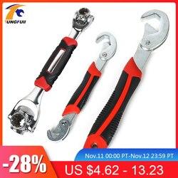 Tungfull tiger wrench 48 em 1 ferramentas socket works chave universal aperto ajustável multi-função ferramenta de mão
