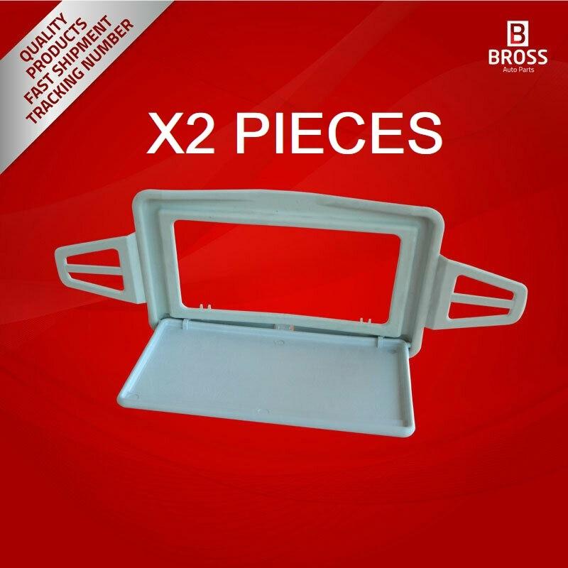 Bross bdp182 2 peças sol viseira sombra espelho capa cor cinza para w210 w211 lados esquerdo e direito