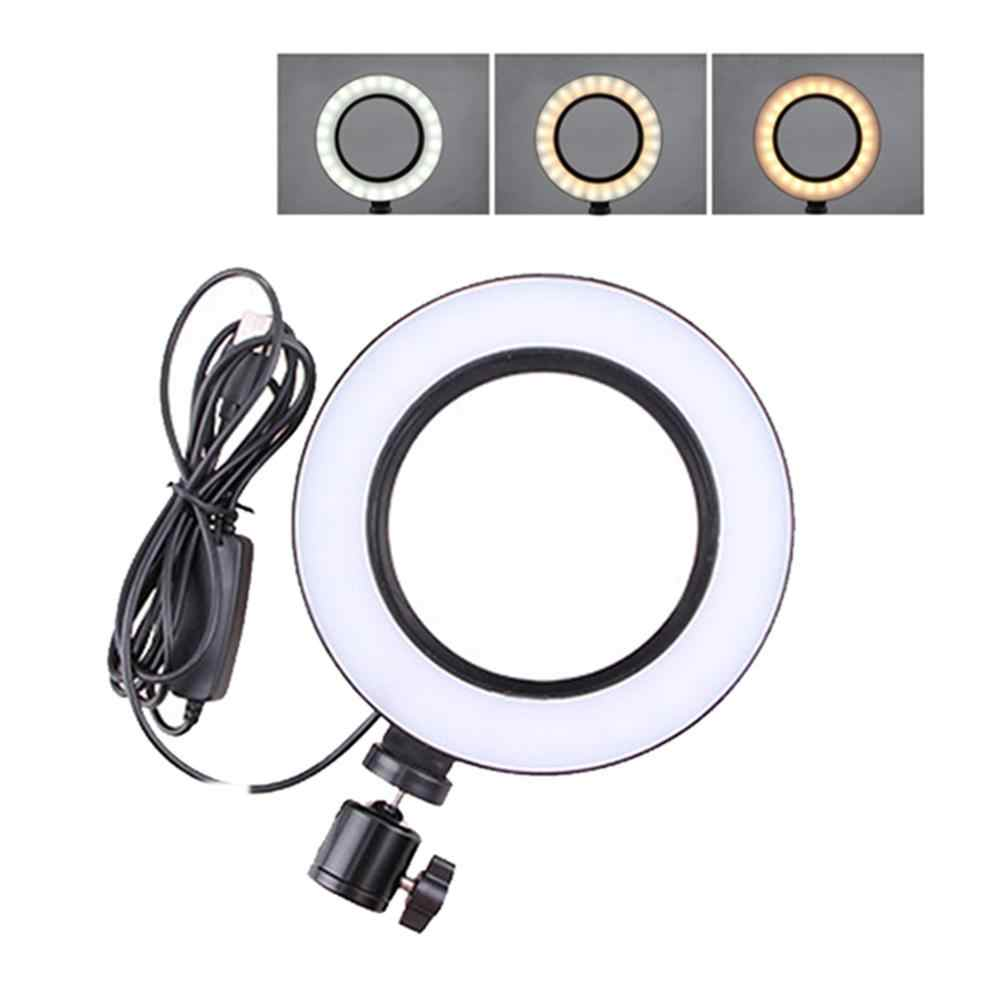 Baru 6 Inci LED Cincin Cahaya Lampu Studio Dimmable 3 Mode Cahaya Selfie Mengisi Lampu 2800-5700K Fotografi foto Pencahayaan Lampu