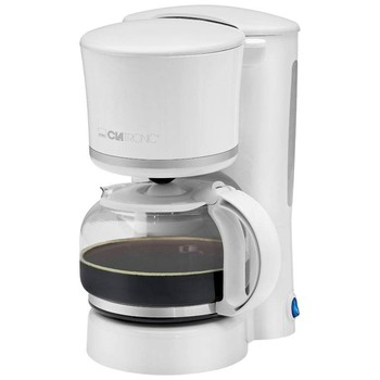 Clatronic KA 3555 Kettle automatic electric drip coffee machine filter capacity 8 to 10 cups Maintainer hot 870W White Coffee Makers     -