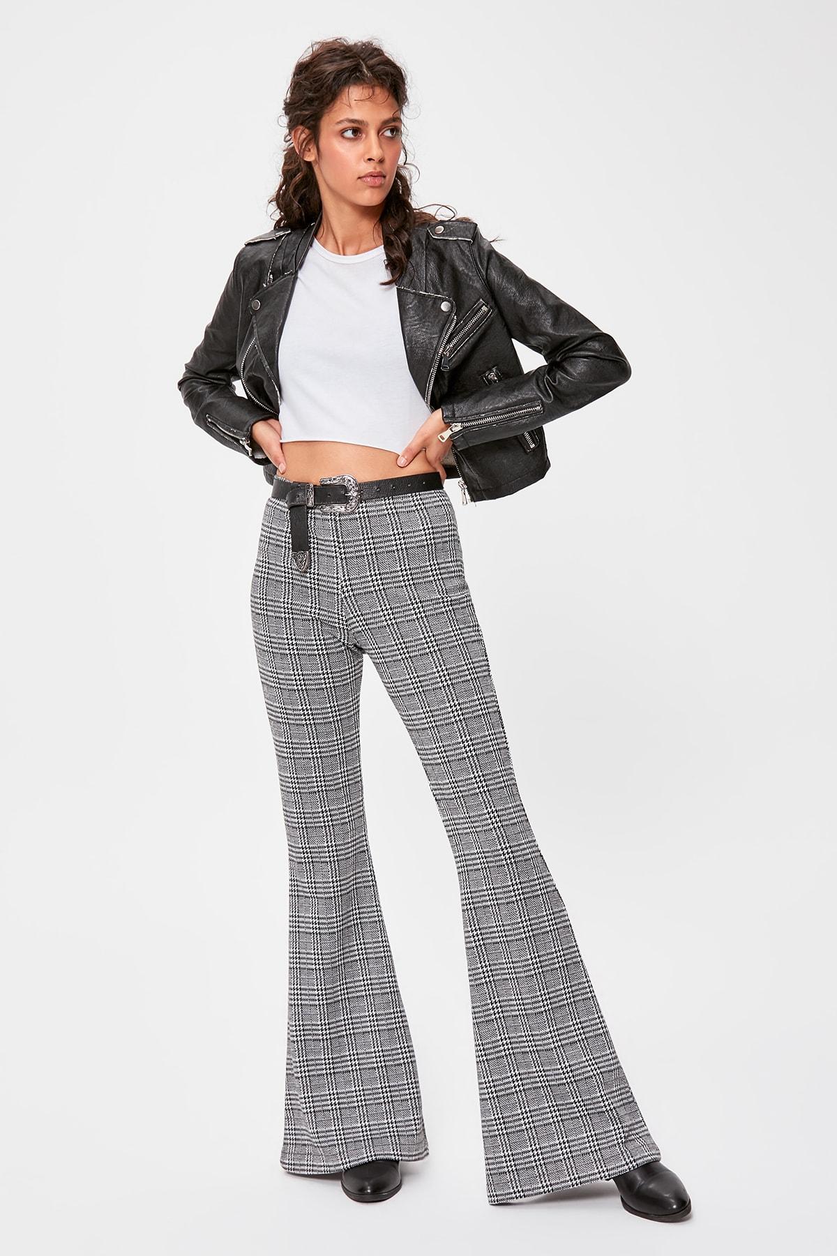 Trendyol Gray Knitted Pants TWOAW20PL0292