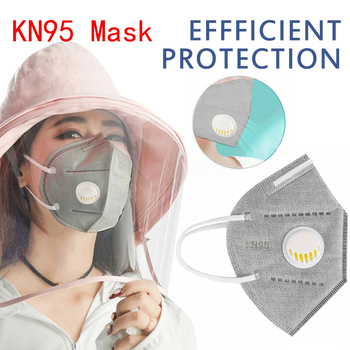 KN95 Face Mask PM2.5 Anti-fog Dustproof Strong Protective Mouth Mask Respirator Reusable Fast Shipping(not for medical use)