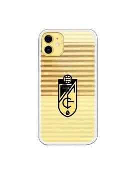 Funda para iPhone 11 del Granada Líneas Blancas y Rojas - Licencia Oficial Granada CF