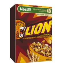 LION Готовый завтрак карамельно-шоколадный, обогащенный витаминами и минеральными веществами, 230 г