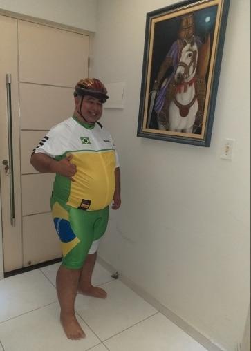 Ensemble Cycliste Brésil vert ou jaune