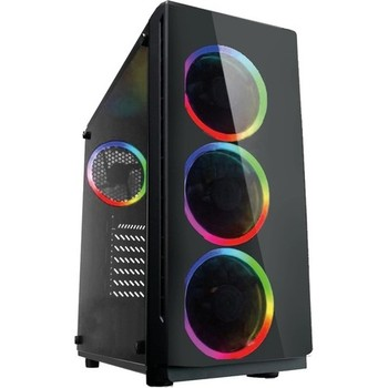 Gaming 400W Psu 4xrgb Controlled Fan 1x3.0 USB Mid Tower Player Computer case 1