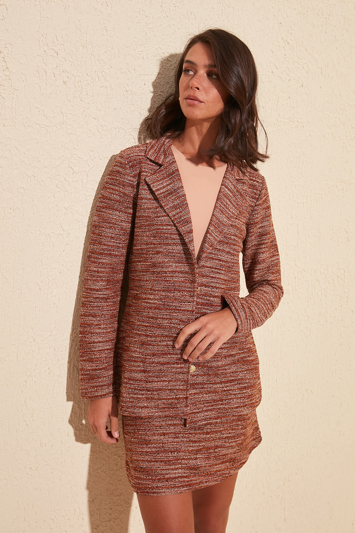 Trendyol Button Knitted Coat TWOSS20CE0044