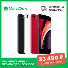 Смартфон Apple iPhone SE (2020) 64GB [Ростест, новый, SIM любых операторов, официальная гарантия]