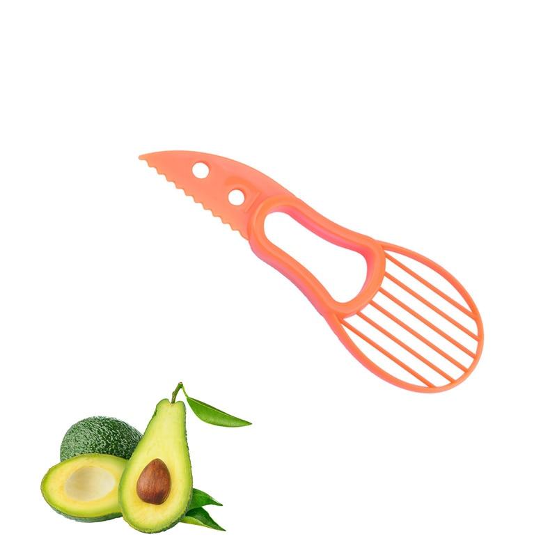 3 In 1 Avocado Knife Pulp Separator Multifunctional Shea Corer Slicer Avocado Butter Fruit Peeler Fruit Cutter Pulp Separator