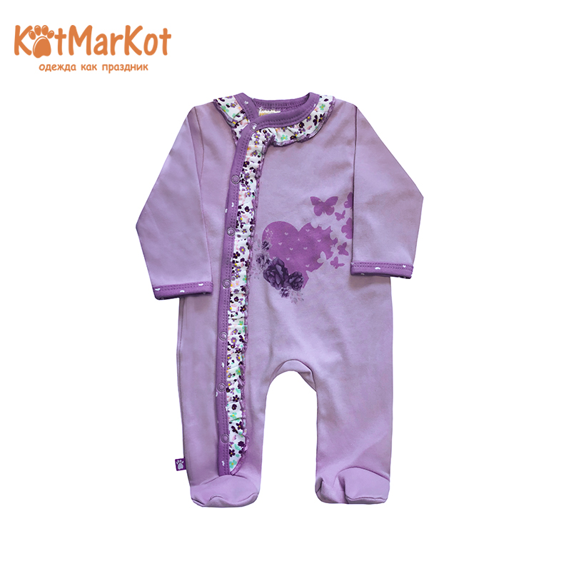 Rompers Kotmarkot 6396  overalls for newborn cat sotmarkets sandpiper baby clothes romper Cotton cat sotmarket Baby Girls Floral