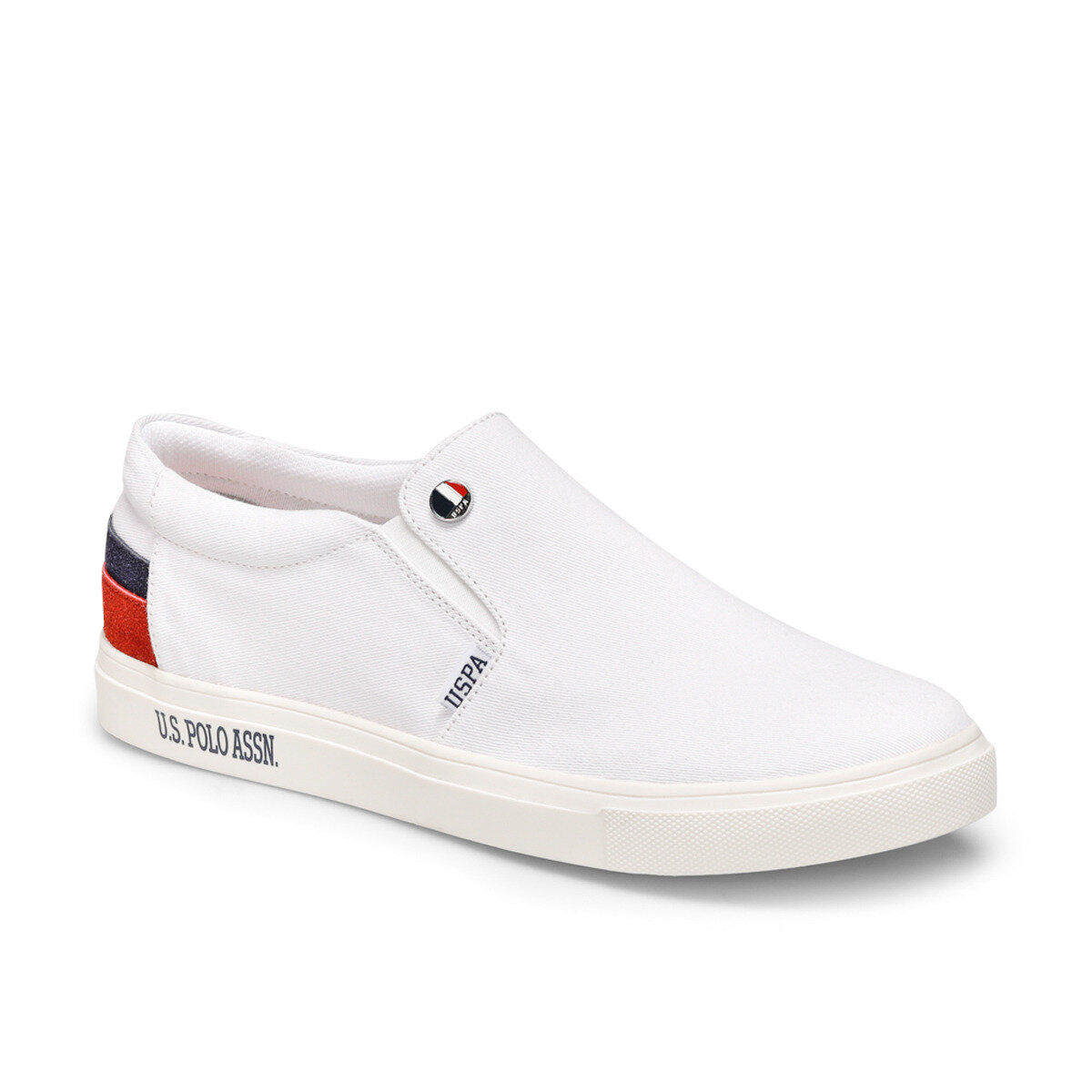 FLO LOVONO White Slip On Shoes U.S. POLO ASSN.