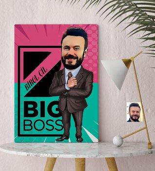 Spersonalizowany stół na płótnie Mr Big Boss (30 #215 50 cm ) #8211 1 wyjątkowy dzień spersonalizowany projekt biuro w domu miejsce biznesowe jakość wyjątkowy dzień tanie i dobre opinie TR (pochodzenie)