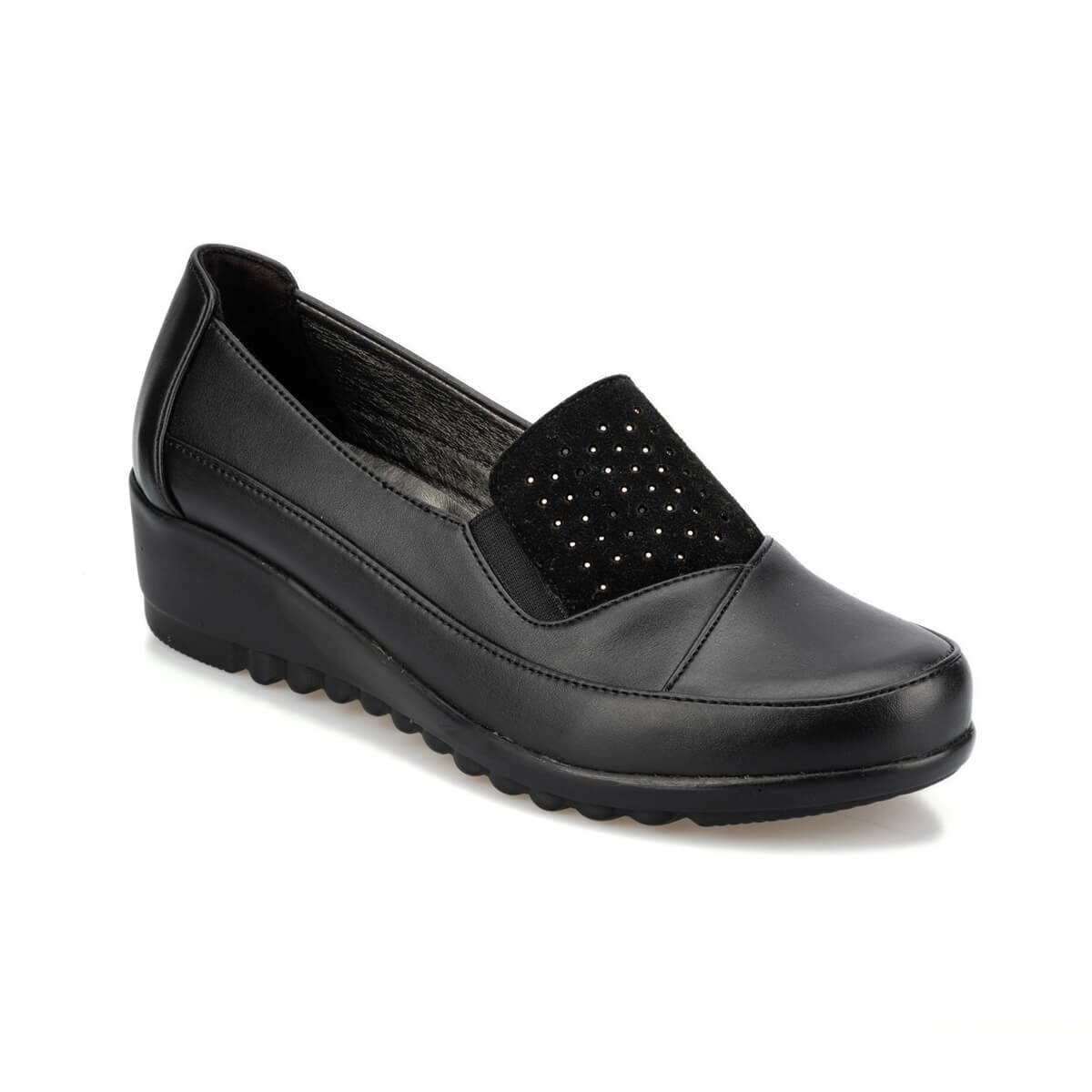 FLO 92.151052.Z Black Women 'S Wedges Shoes Polaris