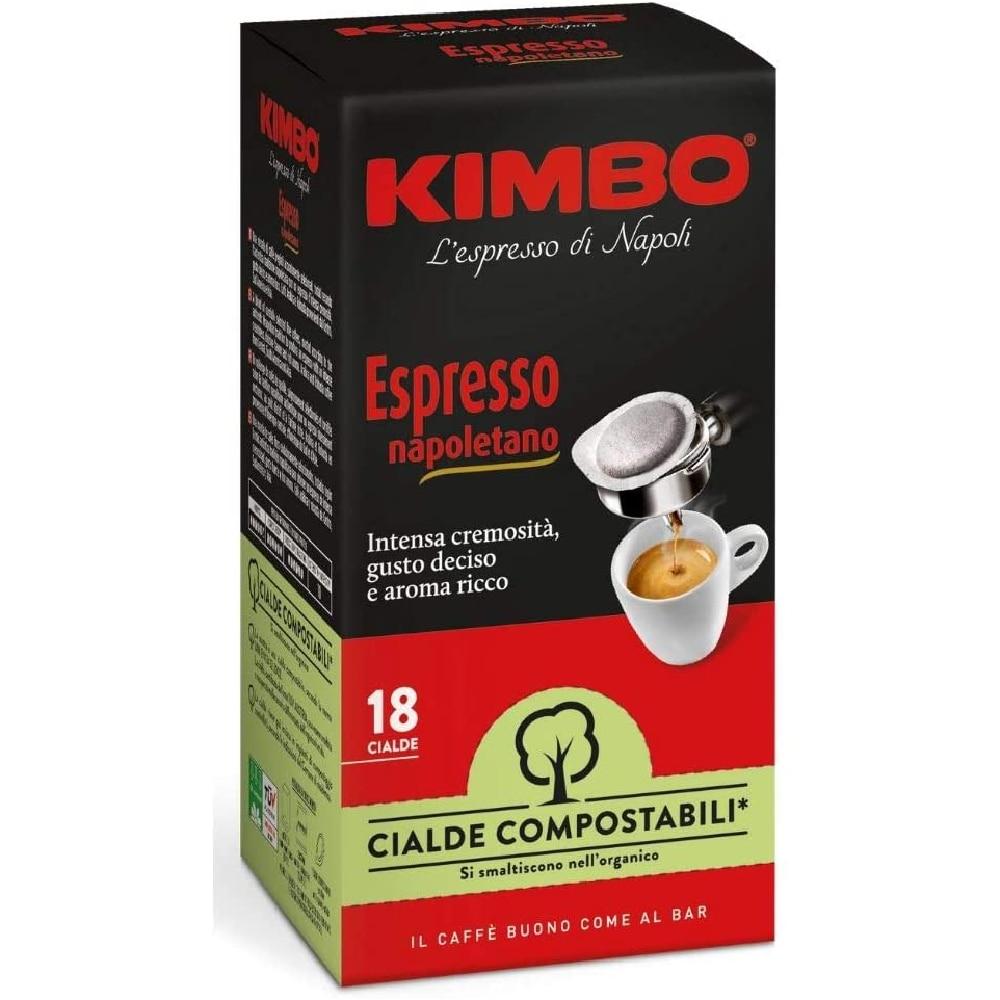 Kimbo coffee Pods compostable ESE - Espresso Neapolitan (8x18 pods)
