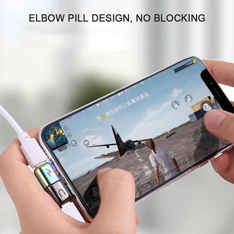 ! ACCEZZ Mini Adapter Voor iphone X 8 7 Plus XS Max XR Hoofdtelefoon Adaptador Voor iphone Enkele Jack Charge Call luisteren AUX Splitter