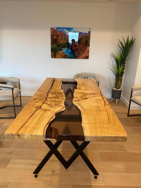 Epoxy Wood  Exotic Dining Table  1
