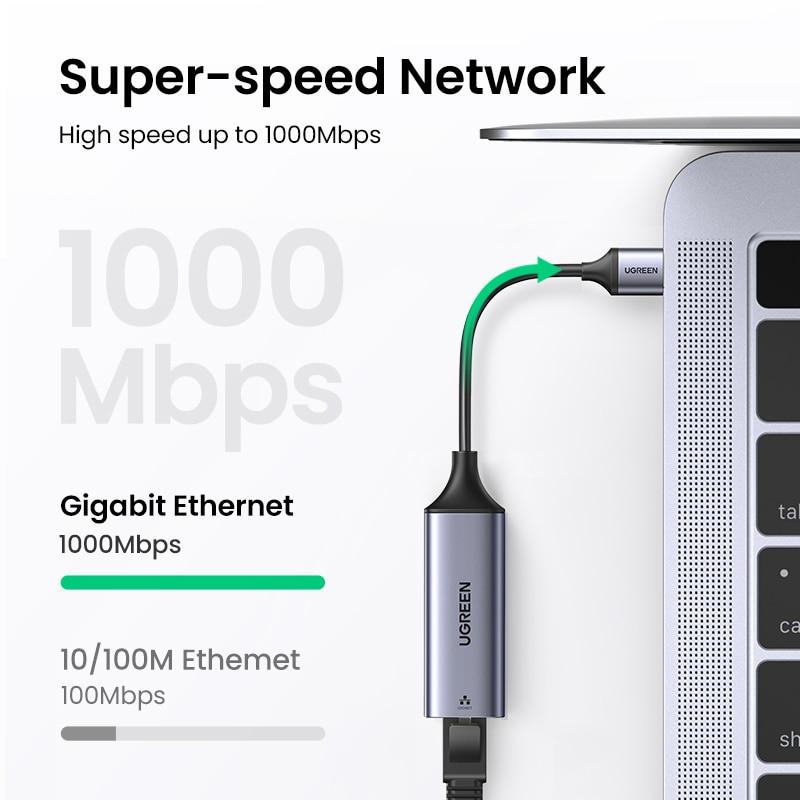 UGREEN USB 3.0 Ethernet Adapter USB 2.0 Network Card to RJ45 Lan for Windows 10 PC Xiaomi Mi Box 3 S Nintend Switch Ethernet USB 2