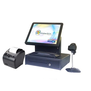 Full set Cheap Price Commercial Point of Sales ALL IN ONE for retailers with cash drawer POS machine Whole set