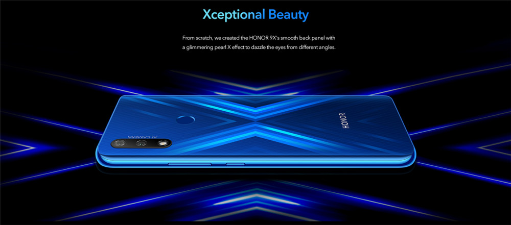 Global VersHuawei Honor 9X 4GB 128GB Mobile Phone 6.59 '' Smartphone 48MP AI Dual Camera  Cell Phones Support Google Play