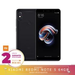 Перейти на Алиэкспресс и купить -garantía y versión española-xiaomi redmi note 5 - smartphone de 5.9дюйм. (octa-core 1.8 ghz, 4gb+64 gb,cámara 12+5 mp, android 8.0