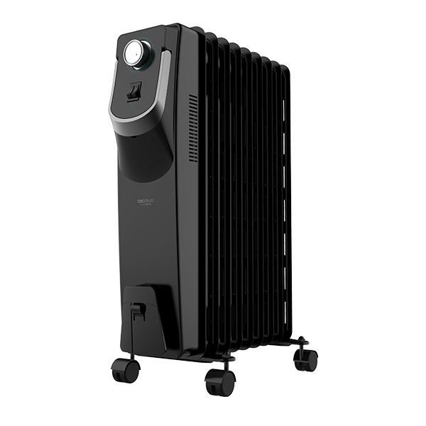 Oil-filled Radiator (9 Chamber) Cecotec Ready Warm 5820 Space 360º 2000W Black