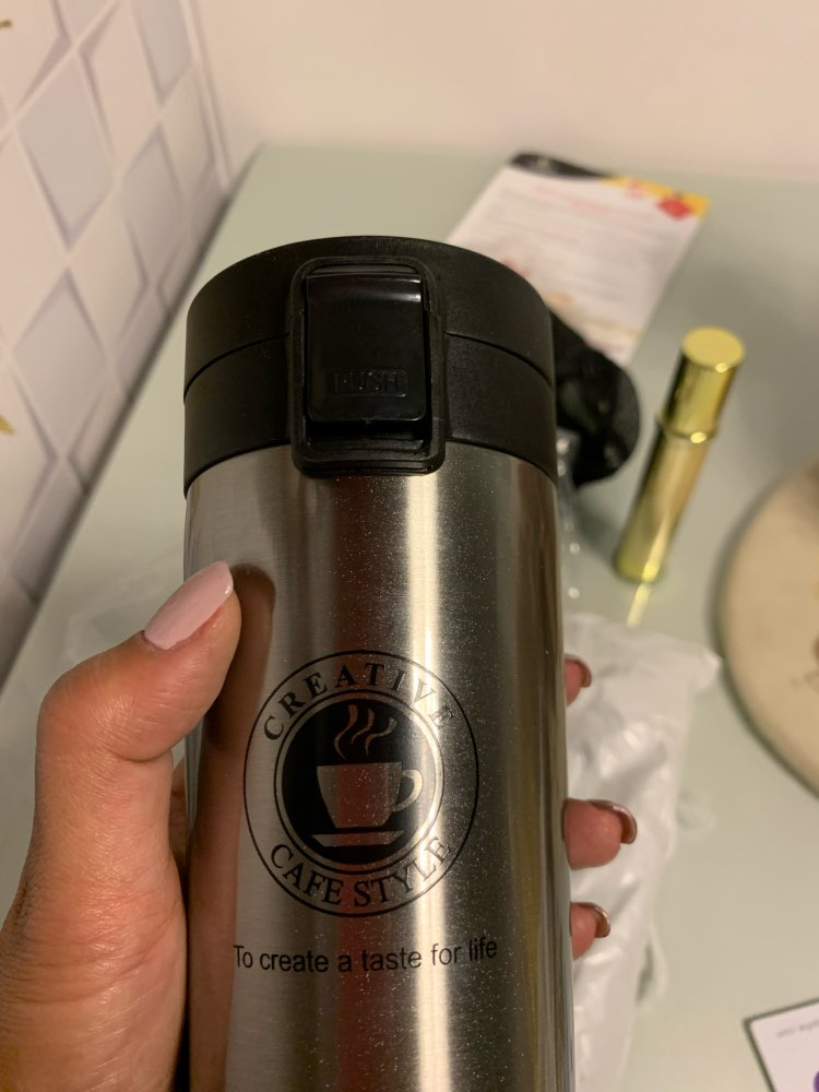 VOZRO Advanced Travel Coffee Cup Stainless Steel Thermos Tumbler Cup Vacuum My Drink Bottle . Thermos Water Cup Hot Water Bottle|Water Bottles| |  - AliExpress