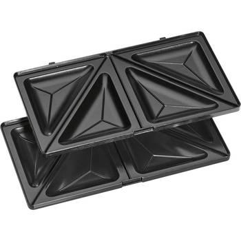 Clatronic ST 3670 Sandwich interchangeable plates, Sandwich toaster, waffle iron Belgian Waffle, Grill Iron machine meat fish 5