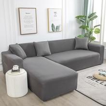 1 ou 2 pièces housse de canapé élastique couleur unie l forme fauteuil canapé couvre housses de canapé pour salon sectionnel doux housses