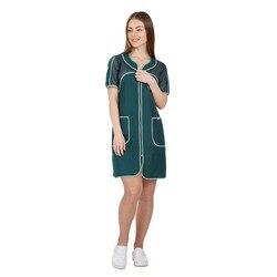 Женский рабочий халат для продавца IVUNIFORMA Круиз зелёный