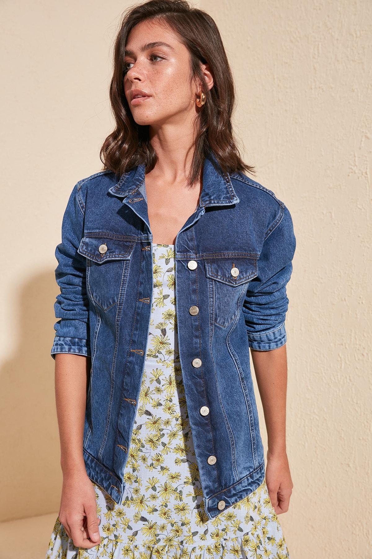 Базовая джинсовая куртка TWOSS20CE0184|Куртки|   | АлиЭкспресс