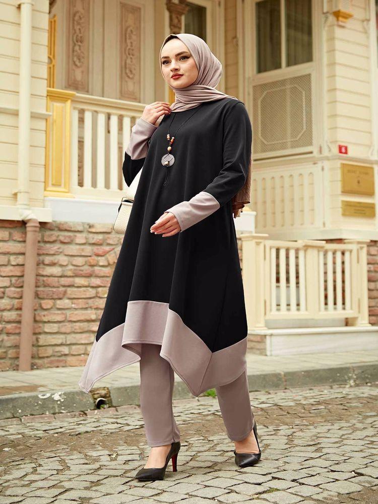 Islamic women clothing Muslim sets Asymmetric dual team temporary shed casual eid mubarak dubai islamic clothes fashion