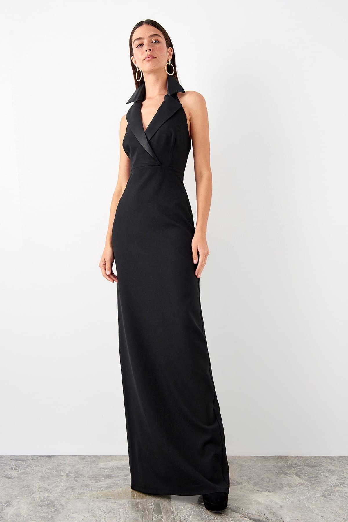 Trendyol Jacket Collar Detail Evening Dress Dress TPRSS19FZ0556()