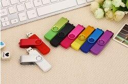 Высокоскоростной металлический флеш-накопитель OTG USB 128 МБ (мегабайт) Смартфон USB 2,0 микро флеш-накопитель USB