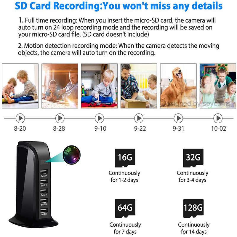 Mini cámara WIFI HD 1080P IP, cámara de seguridad inalámbrica, cargador de pared USB, cámara para bebé, Monitor, videocámara para casa inteligente oculta