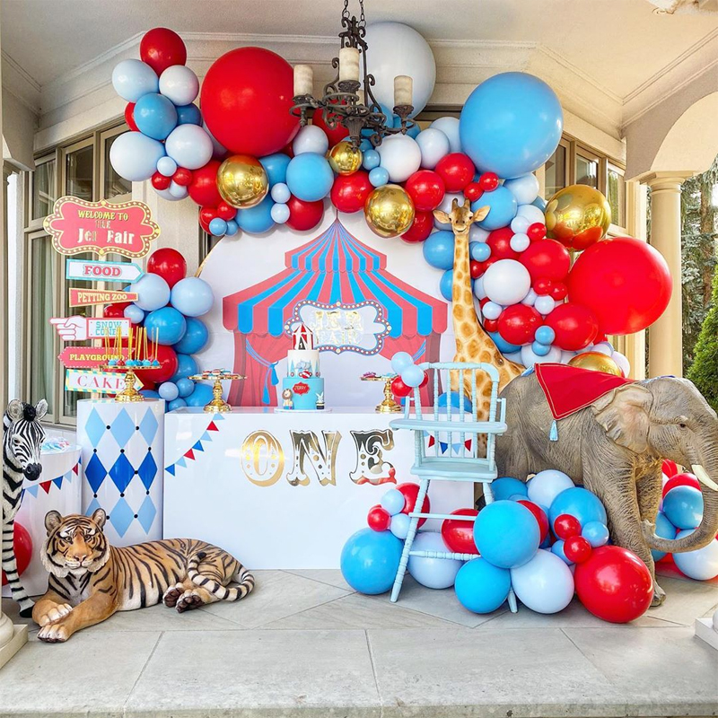144 пачки черного, красного, синего, желтого латексные шары цирк карнавальный арка для воздушных шаров комплект гирлянды Радуга карнавальный...