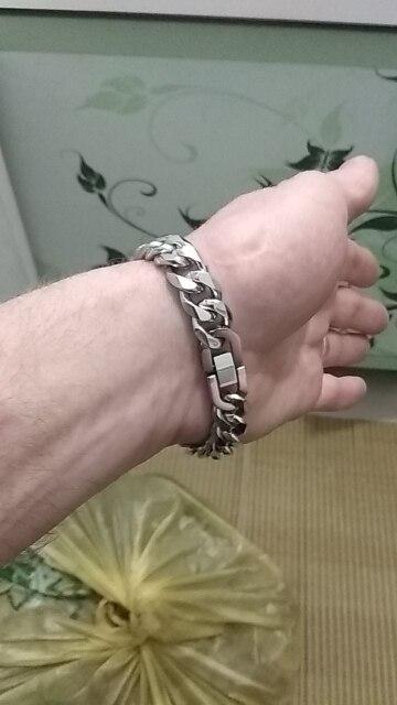Moorvan Jewelry Men Bracelet Cuban links & chains Stainless Steel Bracelet for Bangle Male Accessory Wholesale B284 bracelet mp3 bracelet jewerlybracelet craft - AliExpress