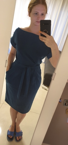 Solid O-neck Short Sleeves Lacing Dresses Women Casual Pockets Simple Dress Summer Ladies Fashion Breathable Dress Vestidos New reviews №2 145075