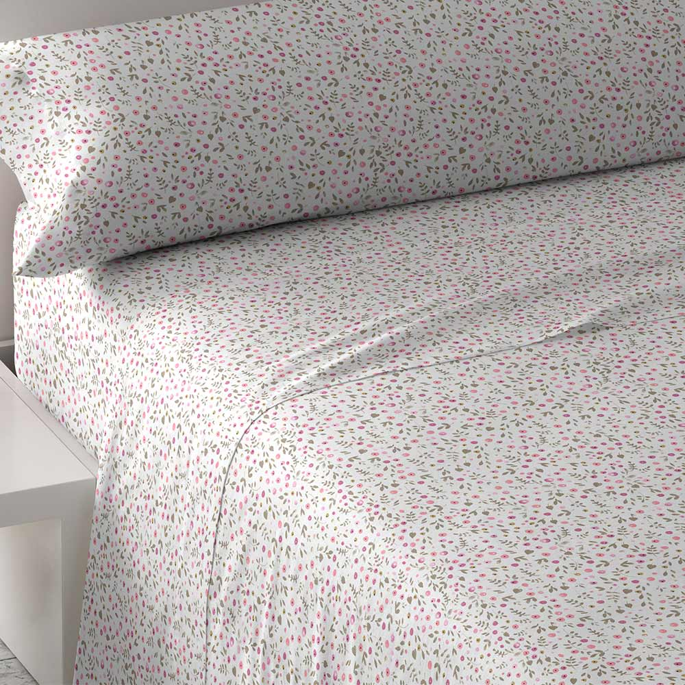 PimpamTex-Sheets Set Stamped, 3 Piece For Bed. Measures 90, 105, 135, 150, 180 And 200. Clothing Bed Set Polycotton